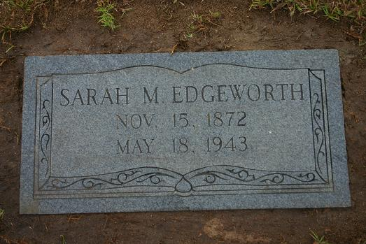 "SARAH MARIE""SALLEY"" HENDRICKS EDGEWORTH"