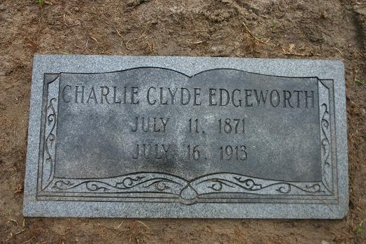 GRAVEMARKER FOR CHARLIE C EDGEWORTH